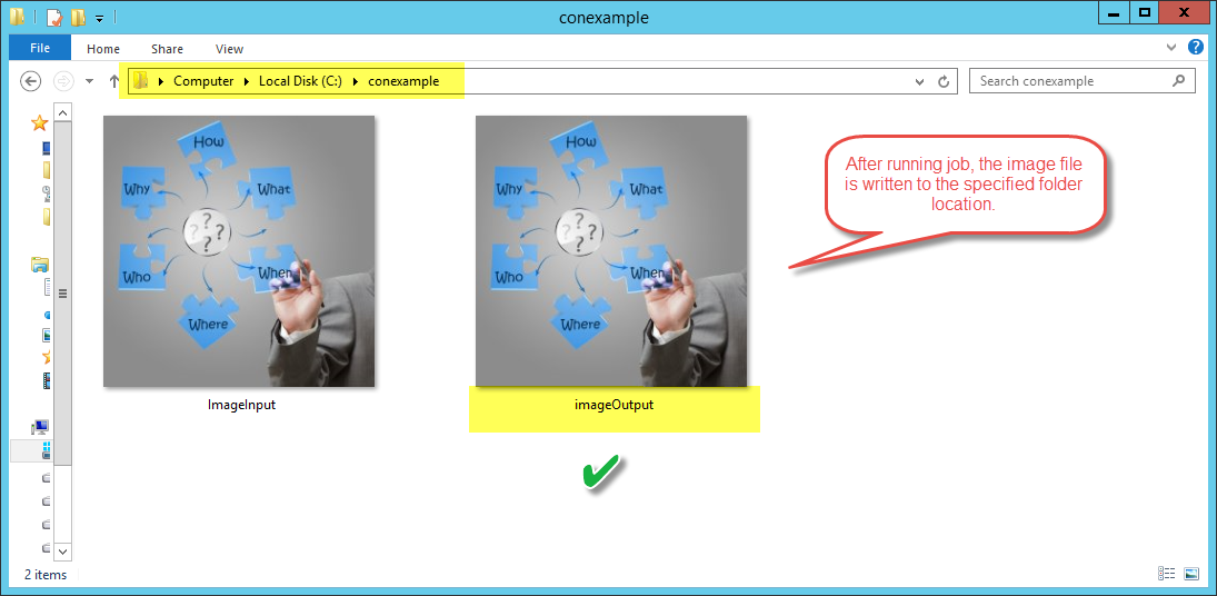 Dynamics AX OutPut Result Container Image Job